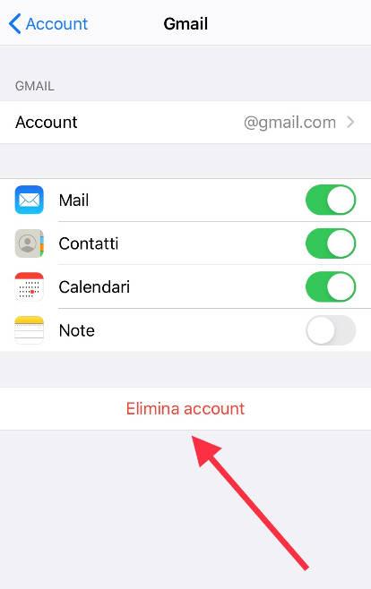 Come eliminare l'account Google in Apple iPhone 12 5