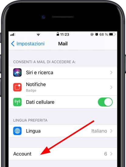 Configurazione della posta Apple iPhone 12