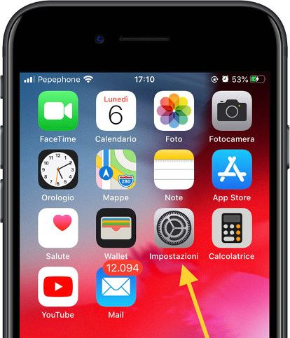 icona impostazioni iOS