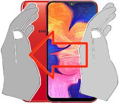 Acquisizione dello schermo in  Samsung Galaxy A10