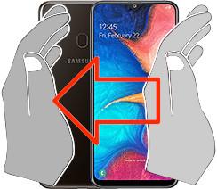 Acquisizione dello schermo in  Samsung Galaxy A20