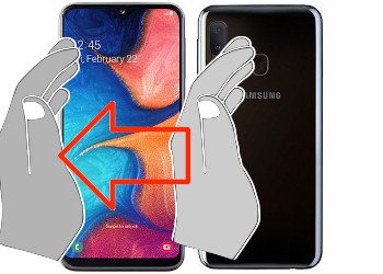 Acquisizione dello schermo in  Samsung Galaxy A20e