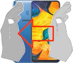 Acquisizione dello schermo in  Samsung Galaxy A30