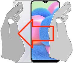 Acquisizione dello schermo in  Samsung Galaxy A30s