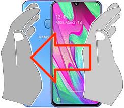 Acquisizione dello schermo in  Samsung Galaxy A40