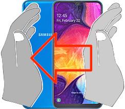 Acquisizione dello schermo in  Samsung Galaxy A50