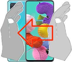 Acquisizione dello schermo in  Samsung Galaxy A51