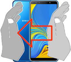 Acquisizione dello schermo in  Samsung Galaxy A7 (2018)