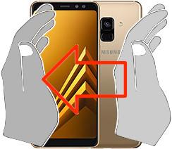 Acquisizione dello schermo in  Samsung Galaxy A8 (2018)