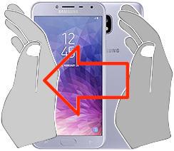 Acquisizione dello schermo in  Samsung Galaxy J4