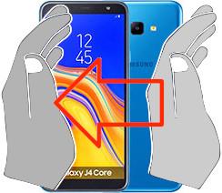 Acquisizione dello schermo in  Samsung Galaxy J4 Core