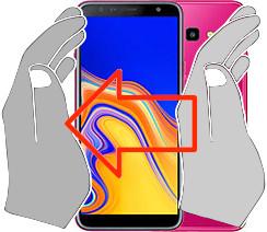 Acquisizione dello schermo in  Samsung Galaxy J4+