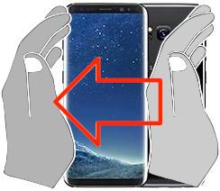Acquisizione dello schermo in  Samsung Galaxy S8