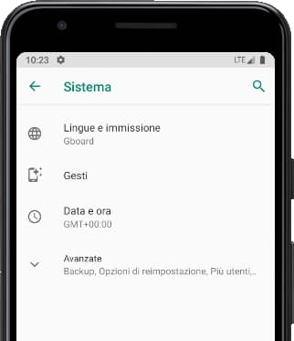 Sistema menu Android